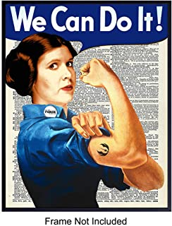 We Can Do It on Photo of Dictionary Page - Unframed Wall Art Print - Great Motivational or Inspirational Gift - Cool Home Decor - Ready to Frame Vintage (8x10) Vintage Photo - Princess Leia