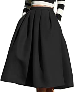 FACE N FACE Women's High Waisted A Line Street Skirt...