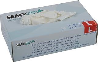 Semy Care - Guantes de nitrilo (talla L, AQL 1,5, 10