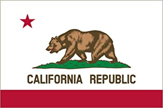 Rogue River Tactical California Sticker CA Republic State Flag Auto Car Decal Bumper Window Sticker (3x5)