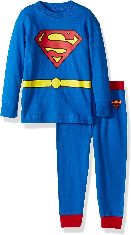 INTIMO Boys' Superman Pajama Set: Clothing