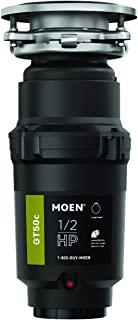 Moen GT50C Prep Series 1/2 Horsepower Continuous Feed Garbage Disposal featuring Fast Track Technology
