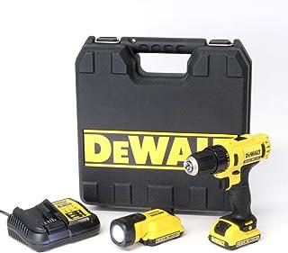 DeWalt XR sladdlös borrskruvsats DCD710D2F – extremt kompakt sladdlös skruvmejsel med 2-växlad helmetallväxellåda & LED-ar...