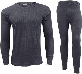 Orbiz Men's Thermal Underwear Set - Full Long Sleeve Vest Top and Long Johns Bottoms Perfect Heat Micro Winter Underwear
