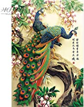 kkxka wooden Jigsaw Puzzles Chinese Old Master Auspicious Peacock Educational Toy Decorative Wall Painting(1000 Pieces)