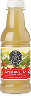 8th Wonder Organic Green Tea, All Natural, Low Calorie Superfood Iced Tea | Ginseng Passion Green Tea | 16 Fluid Ounce Bottled Iced Tea Pack of 6 | Boost Energy, Reduce Fatigue, Improve Brain Function