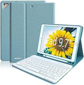 iPad Keyboard Case for iPad 6th Gen 2018, iPad 5th Gen 2017, iPad Pro 9.7, iPad Air 2, iPad Air 1, Detachable Bluetooth Keyboard for iPad 9.7- Smart iPad Case