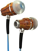 Symphonized NRG 3.0 Wood In-ear Noise-isolating Headphones, Deep Bass Earbuds with Mic & Volume Control, Stereo Earphones for iPhone, Samsung, Android, Smartphone, Laptop and more (Blue & Gray)