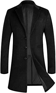 Men's Winter Wool Top Coat Long Trench Coat Business Gentlemen Pea Coat