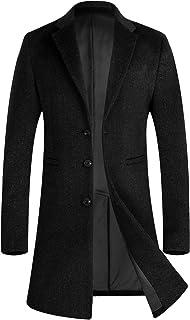 コート メンズ 冬ジャケット ロング丈 ウール オシャレ ビジネス チェスターコート 通勤コート1701ブラックN XL(日本XXXLに相当)