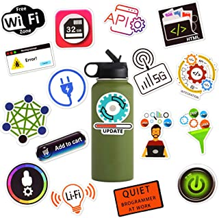 100 Pcs Waterproof Laptop Vinyl Stickers for Party Bag Fller Water Bottle Skateboard(Computer Language Theme)