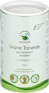 cosmundi Grüne Tonerde extrafein aus Frankreich 700 g für natürliche Gesichtsmaske Peeling und Haarpflege