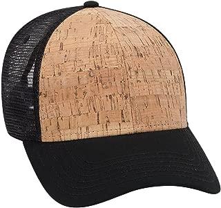 6 Panel Cork Mesh Back Trucker Baseball Cap