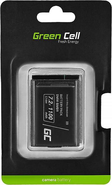 Green Cell DMW-BMB9 Batería para Panasonic Lumix DMC FZ80 FZ82 FZ83 FZ70 FZ72 FZ60 FZ62 FZ40 FZ40K FZ45 FZ45K FZ47 FZ47K FZ48 FZ48K FZ100 Cámara Full Decoded (Li-Ion Celdas 1100mAh 7.2V)