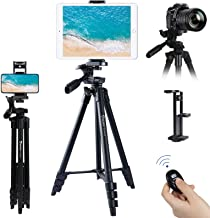"""Endurax 53"""" Camera Tripod Lightweight Compatible with Nikon Canon, DSLR Cameras, iPhone, iPad, with Universal Tablet & Cel..."""