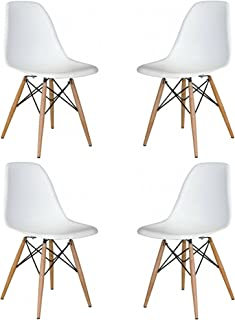 Mid Mod Wares (White Mid Century Modern Dining Chairs 4 Pack