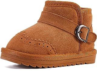 BMCiTYBM أحذية ثلج للبنات والأولاد أحذية شتوية دافئة مبطنة بالفرو (للرضع/طفل صغير/طفل صغير)