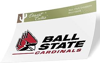 Ball State University BSU Cardinals Vinyl Decal Laptop Water Bottle Car Scrapbook (Sticker - 00018)