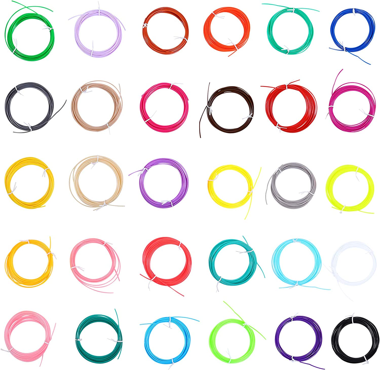 Genuine Free Shipping Filament Refills- 30pcs 30 Outlet sale feature Colors Printing PLA Pe 3D