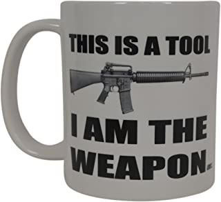 Best Funny Coffee Mug Tool Weapon 2nd Amendment Pro Gun Novelty Cup Great Gift For Men Hunter Hunting