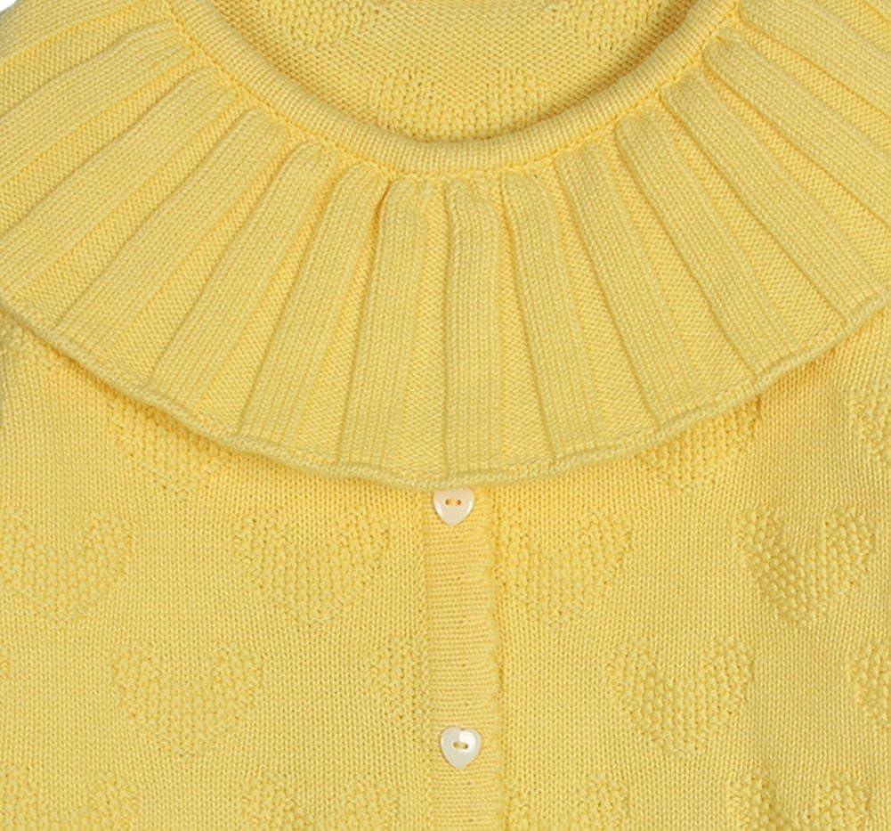 TAIYCYXGAN Baby Toddler Girls Princess Pullover Knit Sweater Kids Wide Collar Heart Sweatshirt Cotton