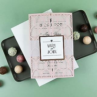 Fai da te partecipazioni matrimonio taglio laser inviti matrimonio cipria carta con busta - CONFEZIONE DA 50 INVITI FAI DA TE