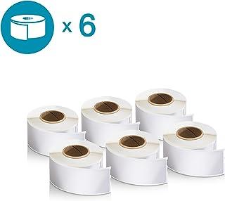 "DYMO LW 邮寄地址标签打印机,白色,3.49cm x 8.89cm,2 卷 350 (30252) 1-1/8'' x 3-1/2' 6 rolls of 130"""