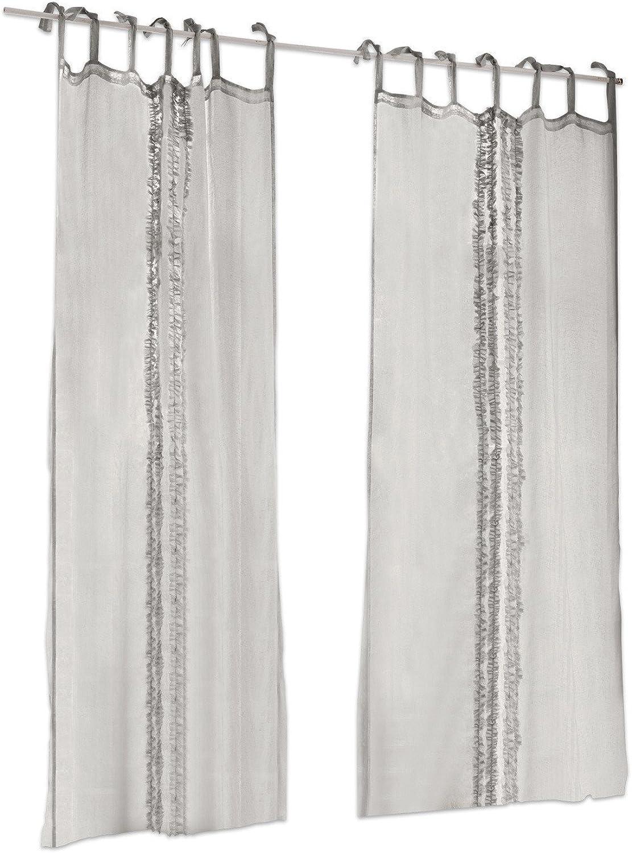 Loberon Gardine Scylla, Leinen, H B ca. 270 135 cm, leinen B01LZ5382X