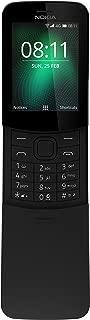 Nokia 8110 4G (2018) Dual-SIM 4GB TA-1048 (GSM Only, No CDMA) Factory Unlocked 4G Smartphone (Black) - International Version