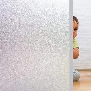 Pellicola Vetri Finestre Auto-adesive per Vetro Pellicola Smerigliata per Vetri Anti-UV Privacy per Ufficio Bagno Camera d...