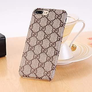 NCANGU New Elegant Luxury PU Leather Classic Style Cover Case Cover Case for iPhone case (Color : Brown) (iPhone 7 Plus / 8 Plus)
