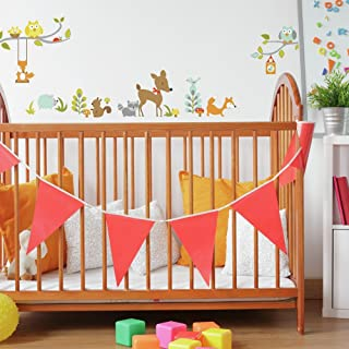 RoomMates Repositionable Woodland Fox and Friends Wall Stickers
