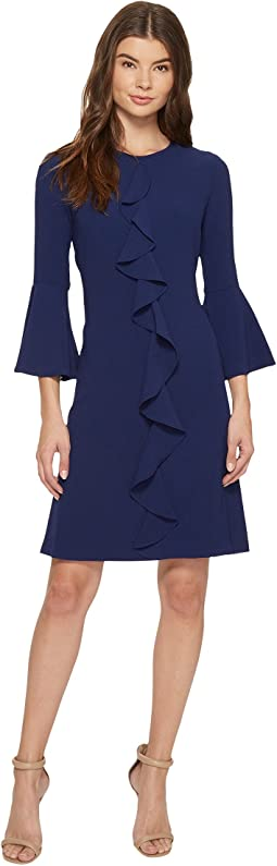 Iris 3/4 Sleeve Keyhole Dress
