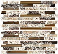 Yipscazo Peel and Stick Backsplash Tile for Kitchen, Kitchen Backsplash Peel and Stick in Sandstone (10 Sheets 10
