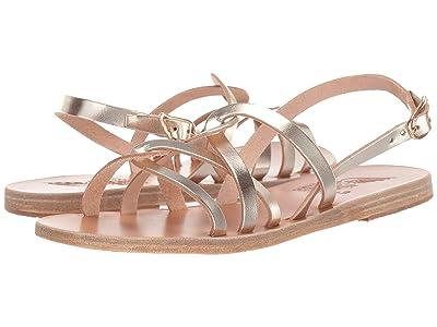 Ancient Greek Sandals Schinousa (Platinum) Women