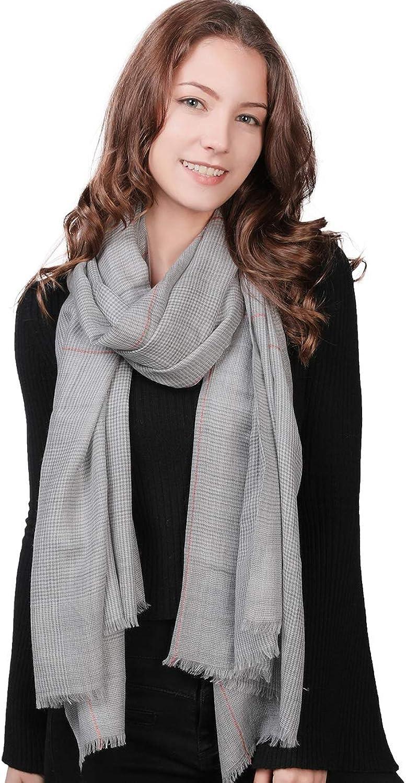 100% Cashmere Blanket Scarf Winter Womens Soft Long Scottish Scarves Shawl Wrap Tassel Plaid Grid Designer Oversized Fashion