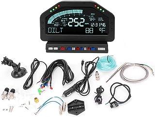 Dashboardsensor, 8 LED's Oliedrukmeter Chinees/Engels voor raceauto voor alle 12V-voertuigen