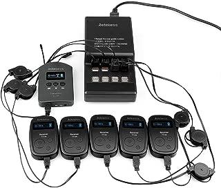 Retekess TT103 Wireless Tour Guide System Church Translation Audio Interpretation 460ft 140m Long Range(1 Transmitter 5 Receivers 1 Charging Base)