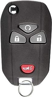 KeylessOption Keyless Entry Flip Key Car Remote Fob Ignition key For 15913421