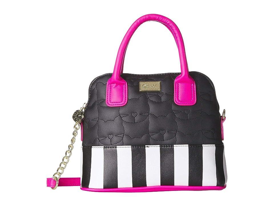 Luv Betsey Darcy Satchel (Black/Fuchsia) Satchel Handbags
