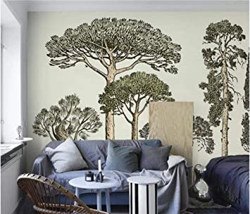 3D Nordic Hand Painting Tree Branch Wallpaper Mural Wall Mural Decals Art Wall Decor Murals HD Printed Photo Wall Papers Roll Customize
