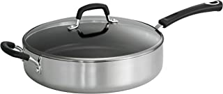 Tramontina 80132/026DS Style Aluminum Non-stick Polished Covered Saute Pan, 5.5-Quart, Made in USA
