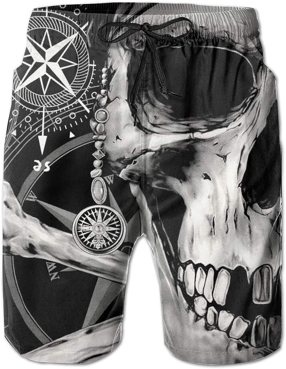 Flc16ki-A Mens 100% Polyester Ranking TOP18 Skull Limited Special Price Board Sho Beachwear Fashion