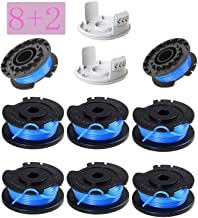"""mycheng 0.065"""" Single Line Autofeed String Trimmer Replacement Spool Line Compatible Ryobi One+ AC14RL3A 18V, 24V,40V Cordless Trimmers, (8 Replacement Spool, 2 Trimmer Cap)"""