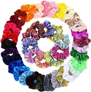 40 Pcs Velvet Hair Scrunchies for Women or Girls Silk Scrunchies for Curly Hair Hair Tie Ropes for Teens Hair Accessories with Gift Bag