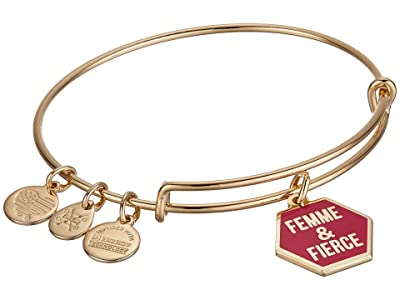 Alex and Ani Barbie Charm Bangle Bracelet (Gold/Femme & Fierce) Bracelet
