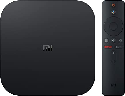 Xiaomi Mi Box S, Smart TV Box, Intelligent 4K Ultra HD Media Player, work with Projector, TVs & Mobile Phones, powered by Android 8.1, - International Version- Black