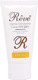 REVE Crema Hidratante Facial con protección solar muy alta FPS 50 - sol y nieve - Hombre y Mujer Día y Noche - Cosmética ...