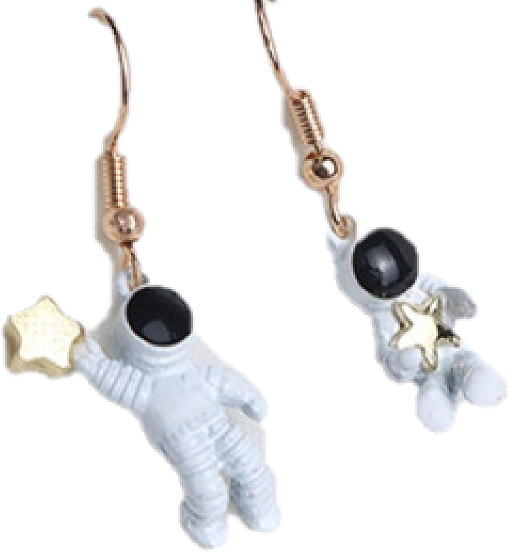 Astronaut dangle with stars earrings - Space Fan