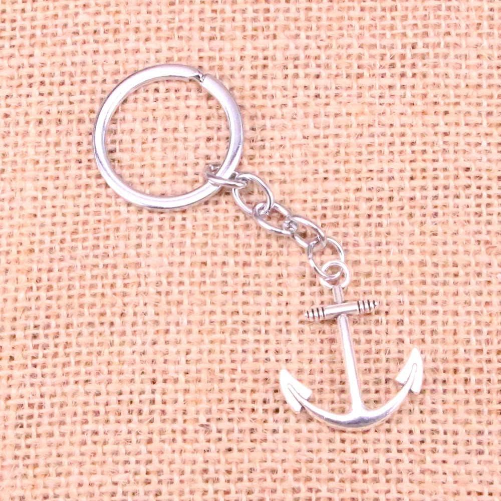 ZOJK 20Pcs 31 X 25Mm Anchor Sea Pendant DIY Men Car Key Chain Ring Holder Keyring Souvenir Jewelry Gift